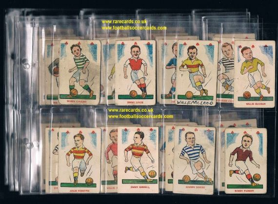 1948 BARGAIN Kiddy's shamrocks Popular Players 51/52 mixed condition value £200+